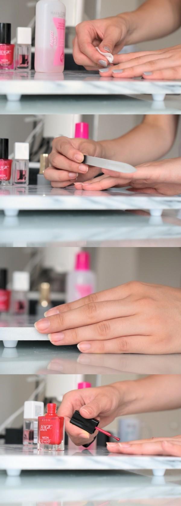 Künstlerisch Nägel Selber Machen Mit Nagellack Foto Von Naegel Manikuere Manicure At Home Diy Selbermachen