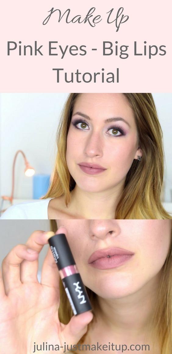 Pink eyes big lips tutorial makeup produkte sleek makeup Beauty Makeup