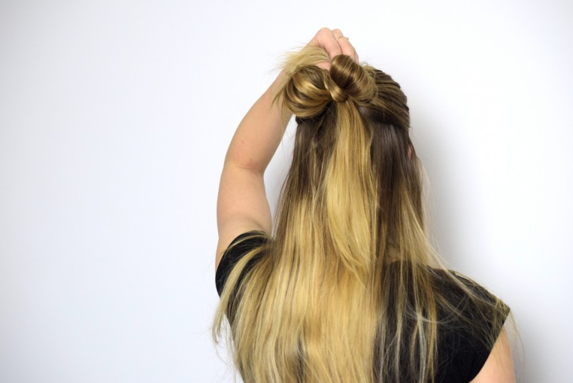 Haar-Schleife | Festliche Frisuren Beautyblog München Tutorial