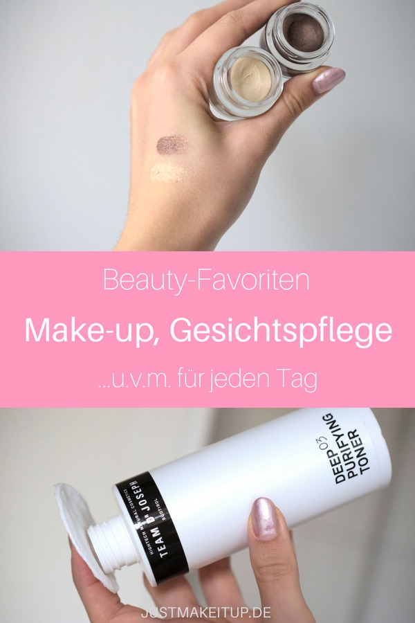 Beauty-Favoriten des letzten halben Jahres. Beauty-Produkte für jeden Tag und tolle Make-Up-Produkte für dein Tages-Make-Up. #justmakeitup #beautyprodukte #makeupprodukte