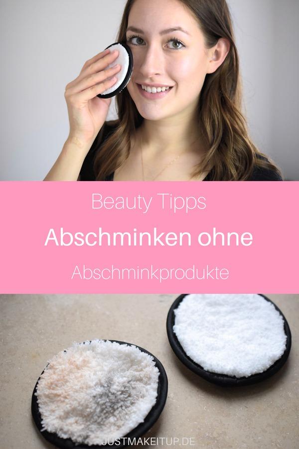 Abschminken ohne Produkte