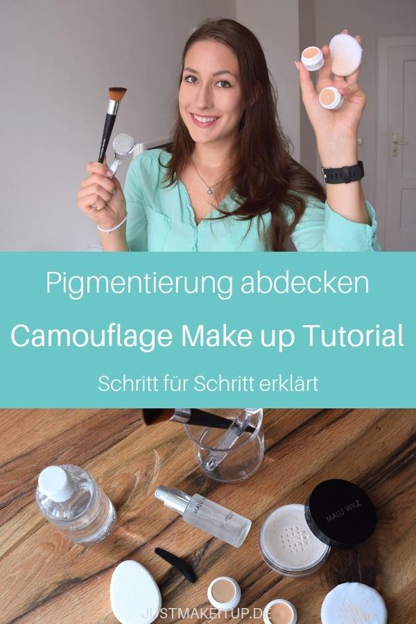 Anzeige | In diesem Makeup Tutorial zeige ich dir Schritt für Schritt, wie du Camouflage Makeup richtig aufträgst. Camouflage ist ein stark deckendes Makeup, mit dem du z.B. Feuermale oder Tattoos abdecken kannst. Durch die lange Haltbarkeit eignet es sich auch hervorragend für dein Braut-Makeup auf deiner Hochzeit. Keine Sorge, das ist ein einfaches Makeup Tutorial für Anfänger.  #makeuptutorial #camouflage #makeuptipps #makeuptricks